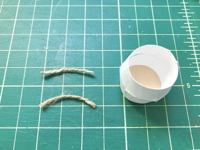 """two pieces of twine at 1.5"""" length"""