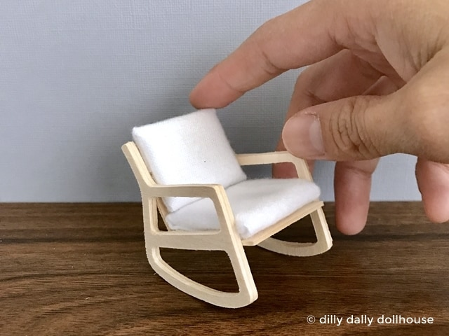miniature mid-century modern rocking chair