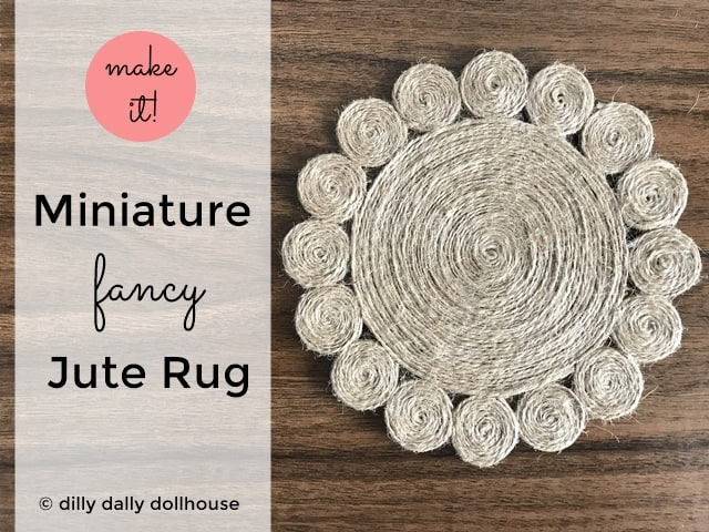 Miniature Round Jute Rug (with