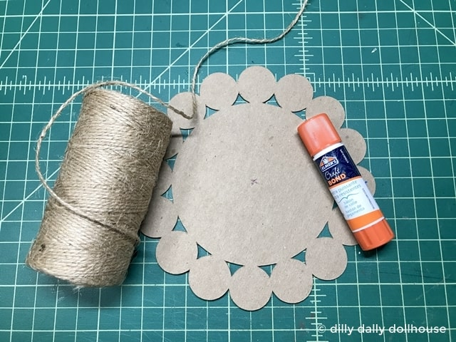 materials for miniature jute rug