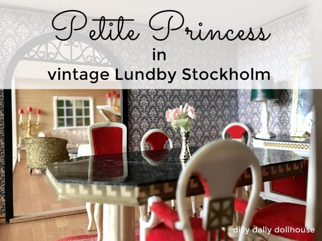 Petite Princess dollhouse dining living room furniture in vintage Lundby Stockholm Dallas