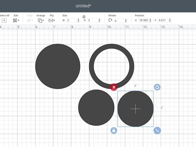 cricut design space circles