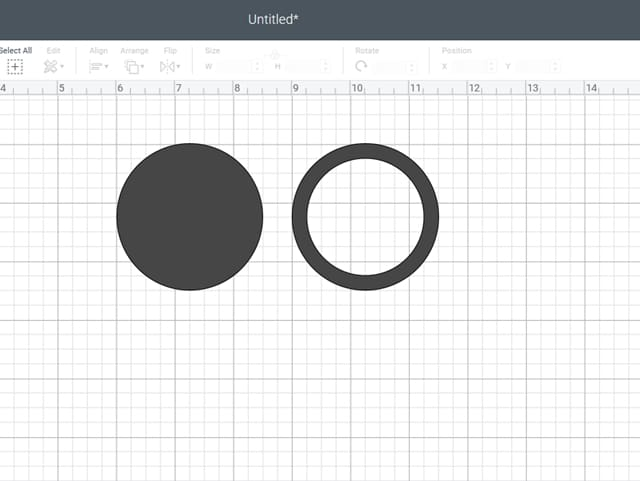 cricut design space two circles