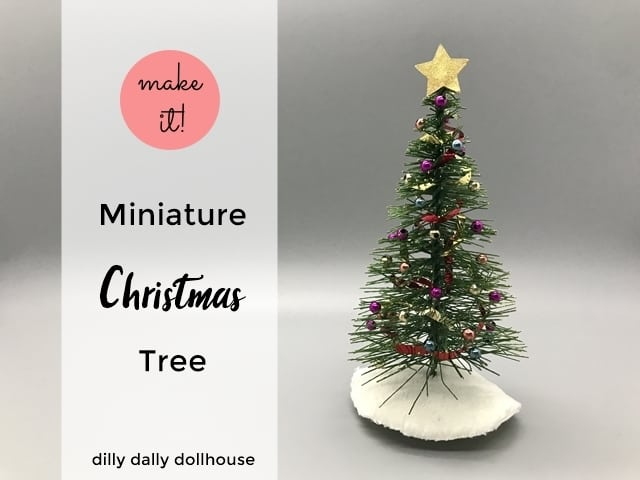 mini holiday Christmas tree with skirt