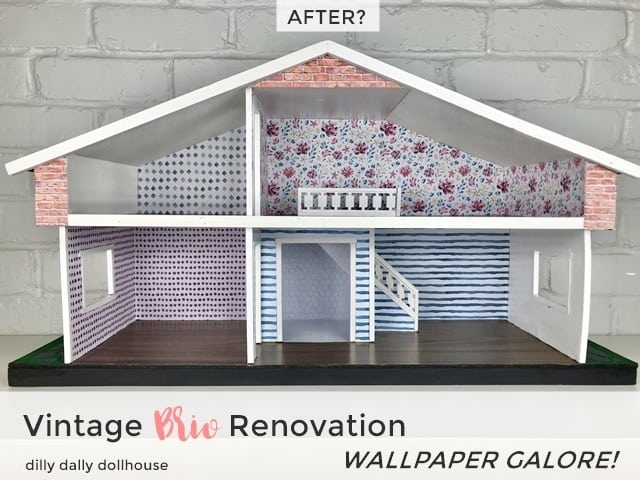 brio dollhouse renovation wallpaper full view