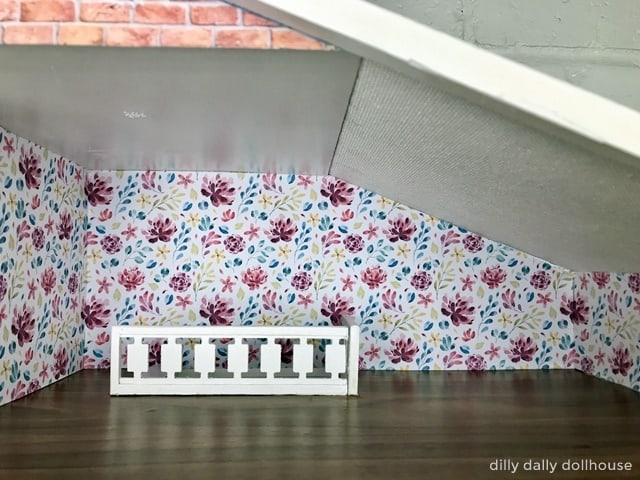 brio dollhouse wallpaper main room