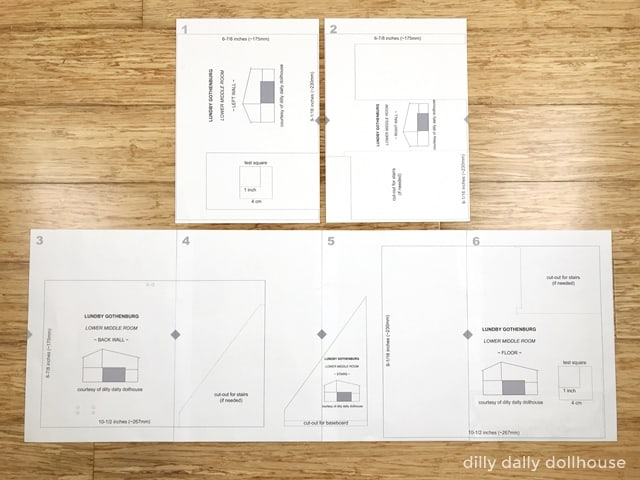 lundby wallpaper templates being laid out