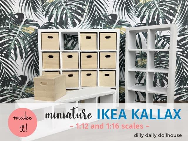 miniature ikea kallax cube bookcase
