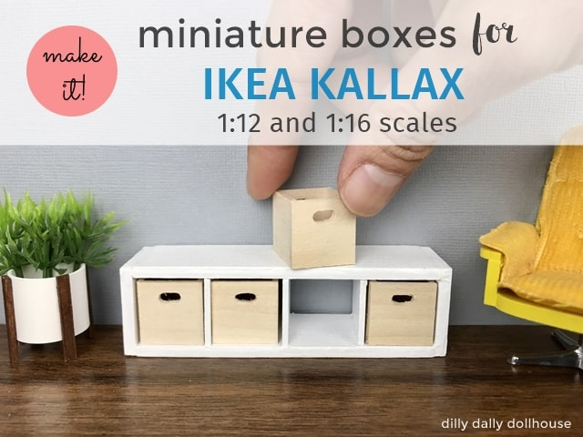 miniature boxes for ikea kallax