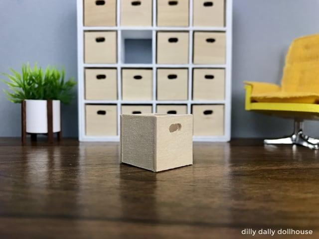 dollhouse miniature wooden box