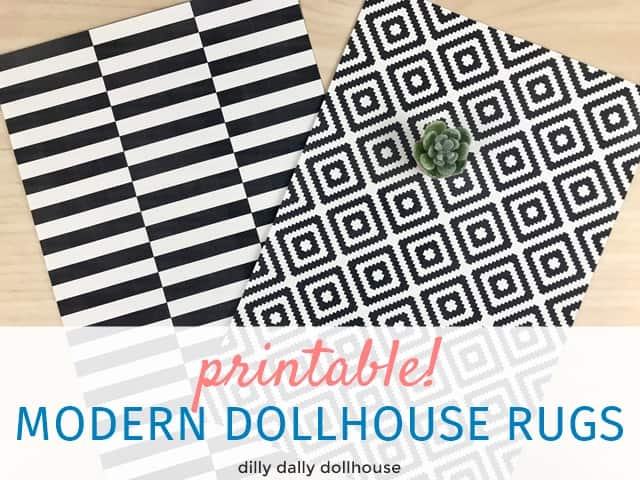 printable modern dollhouse rugs