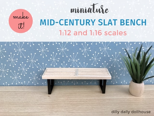 miniature slat bench 1:16 scale