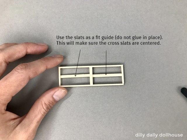 middle cross slats are inserted
