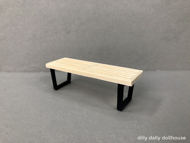 miniature slat bench completed
