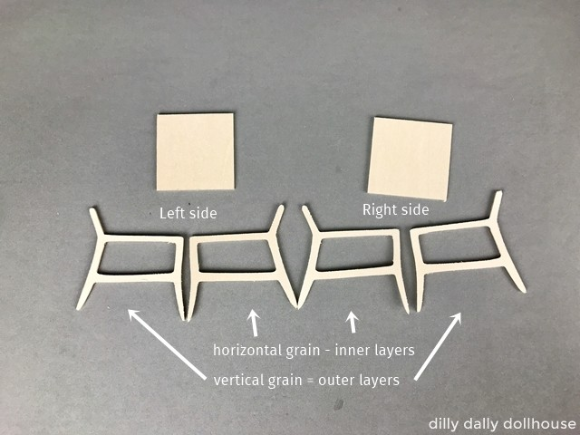 components of modern dollhouse chair