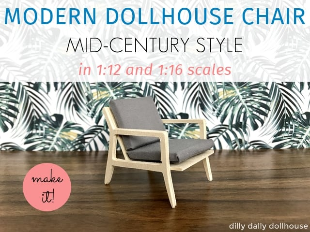 modern dollhouse chair