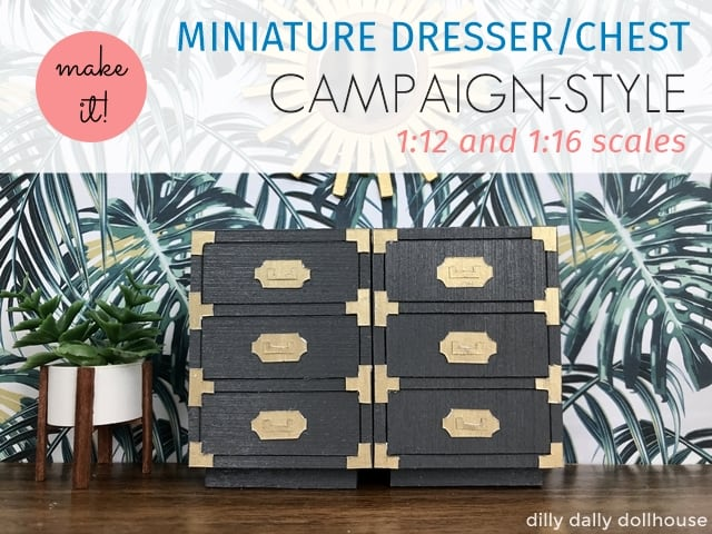 1:16 scale miniature campaign dresser