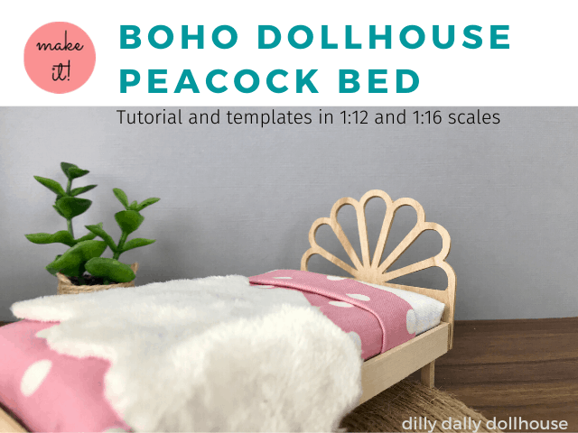 peacock dollhouse bed
