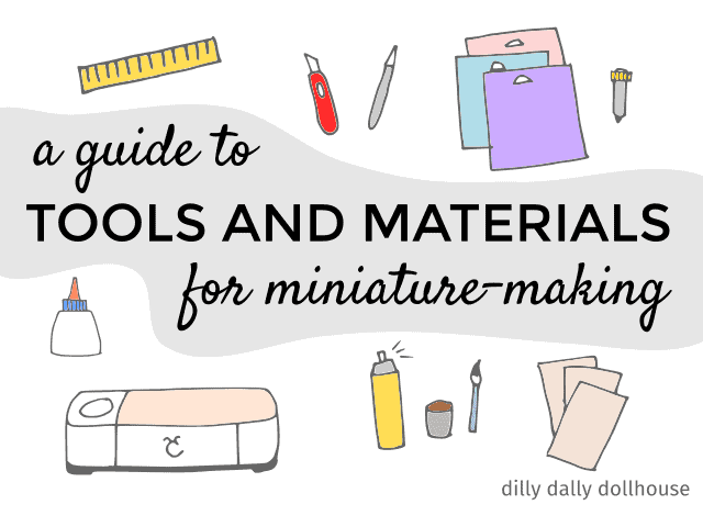 illustration of tools and materials for making miniatures