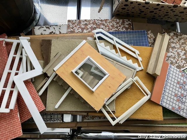 vintage hanse dollhouse parts for renovation