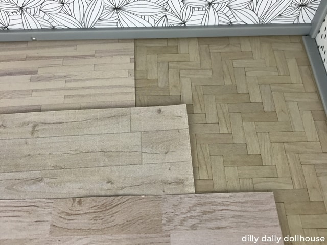 dollhouse wood floor printables
