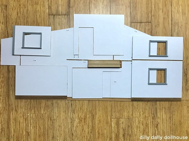 white cardstock for dollhouse walls