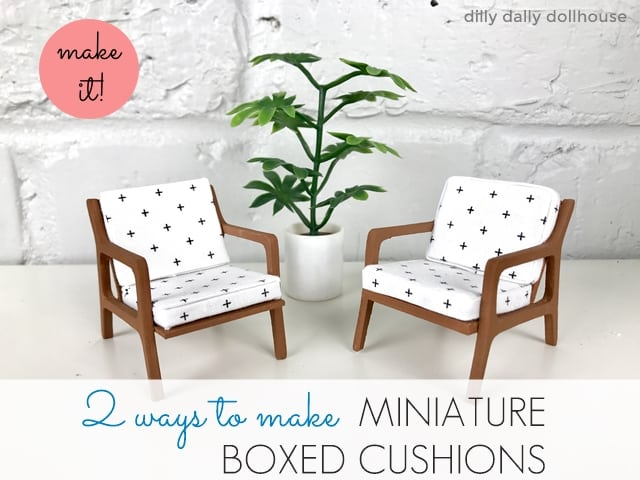 how to make miniature boxed cushions