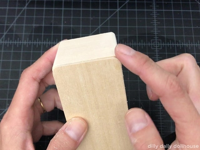 sanding top edges to round