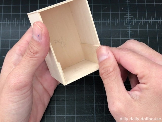 assembling the body of miniature stove