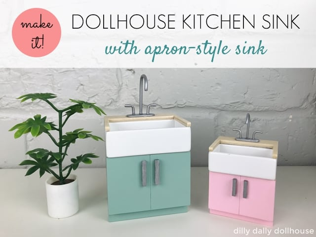 dollhouse kitchen sink 1:12 and Lundby scale