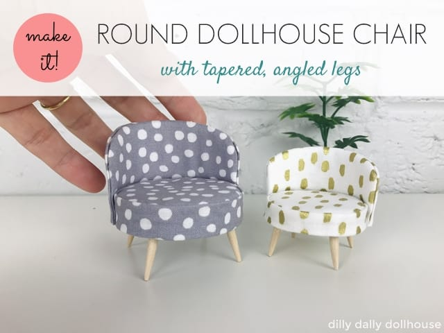 round dollhouse chair, round miniature chair