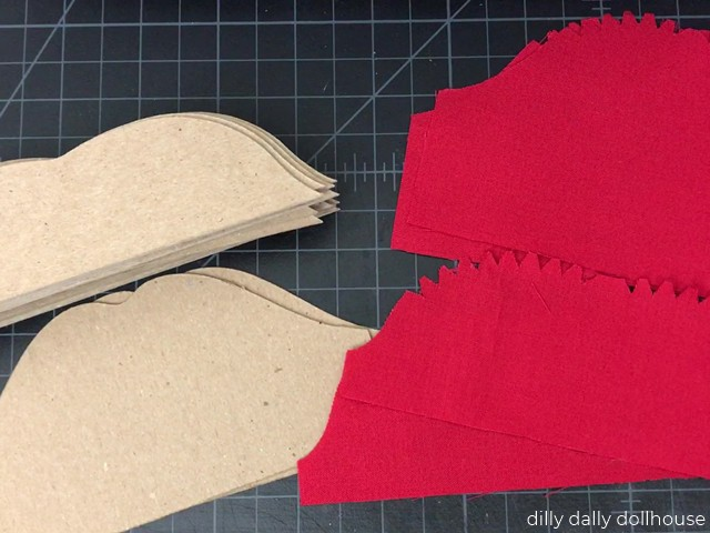 materials for making dollhouse lips sofa