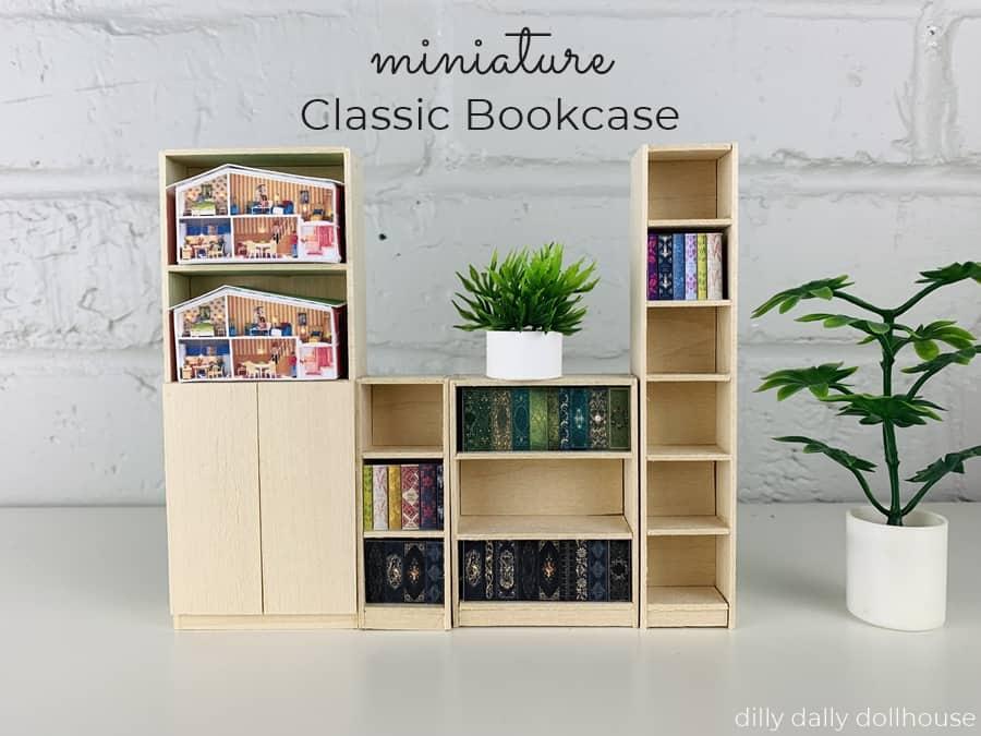 dollhouse miniature classic bookcases